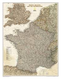 National Geographic Map France And Benelux Executive Wall Map Westeurope Countries