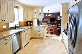 White Kitchen Cabinets With Tile Floor Pictures Of Kitchens Traditional Off White Antique Kitchen