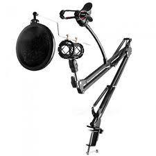 desk boom mic stand ebay