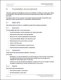 technical feasibility report template 9 feasibility study sle students resume