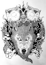 the s i g i t owl and wolf t shirt on behance