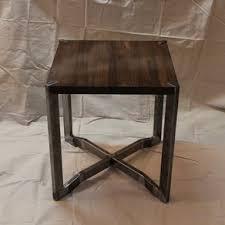 wood metal end table custom end tables custommade com