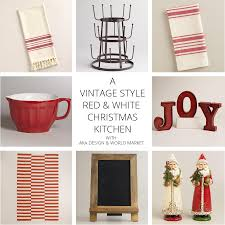 Red And White Kitchen by A Vintage Style Red And White Christmas Kitchen Free Printables