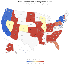 Map Election by 2016 Senate Elections Map People U0027s Pundit Daily