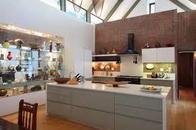brick wall wooden floors caesar stone tops open plan double