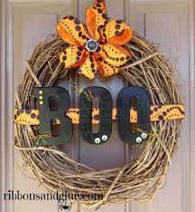 cute halloween wreaths halloween boo wreath