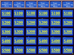 jeopardy powerpoint 2010 template making a jeopardy game board in