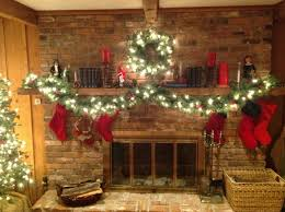 garland on fireplace home decorating interior design bath