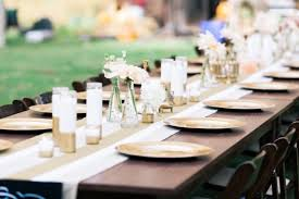 Gold Table Decorations Picture Of Chic Diy Gold Decor Ideas For Your Wedding Table