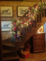 Banister Decorations For Christmas Christmas Garlands For Stairs Fireplaces And Lights Founterior