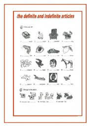 definite and indefinite articles worksheet by vitoria valente