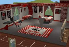 hockey bedrooms mod the sims detroit redwings hockey bedroom for chilliwack