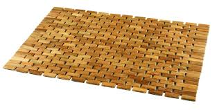 bathroom mat ideas bamboo wood material rattan bath mat design with rectangular