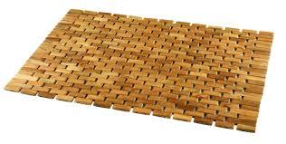 bamboo wood material rattan bath mat design with rectangular