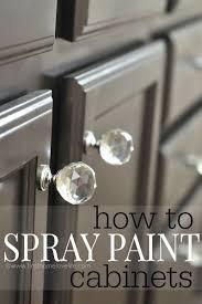 Rustoleum Paint For Kitchen Cabinets Best 25 Spray Paint Cabinets Ideas On Pinterest Diy Bathroom