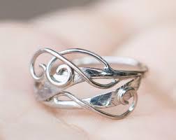 elvish wedding rings elvish ring etsy