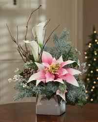 poinsettia u0026 calla lily silk flower arrangement christmas floral