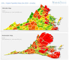 virginia on a map of the usa us virginia map county population density maps4office