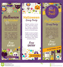 scary halloween party invitations trick or treat halloween party invitation vector template flyer