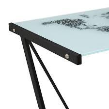 bureau verre et metal bureau mappemonde en verre et métal yesdeko com