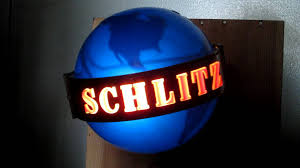 light up beer signs vintage 1961 schlitz beer light up spinning motion world globe pub