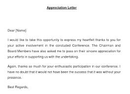 appreciation letter appreciation letter exle