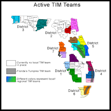 Florida District Map by Florida Department Of Transportation