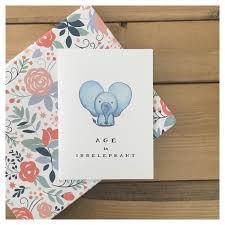 elephant card funny birthday card birthday card cute birthday