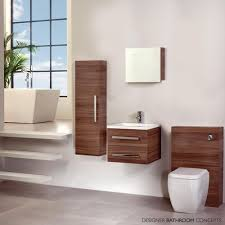 fitted bathroom furniture ideas wonderful aquatrend designer mirrored bathroom cabinet walnut of