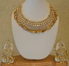gold patti kundan necklace a can gold