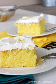 moist and tangy lemon poke cake