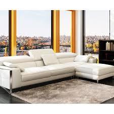 canapé cuir blanc design canapé d angle design en cuir blanc sheyla achat vente canapé