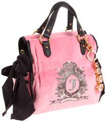 juicy couture cameo velour bling charm miss daydreamer bag pink