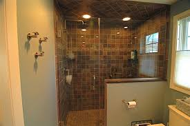 Bathroom Shower Door Ideas Frameless Shower Door Idea For Nice Bathroom With Simple Lights