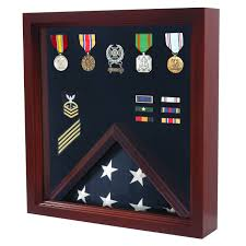 Flags And More Military Flag And Medal Display Case Shadow Box