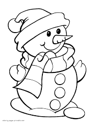 snowman coloring page cute frosty the snowman coloring page