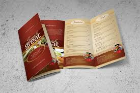 takeout menu template restaurant cafe take out menu template by kinzi21 graphicriver