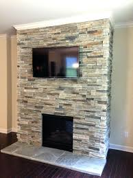 installing stone over tile fireplace wall lowes suzannawinter com