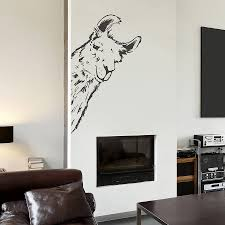 llama vinyl wall sticker by oakdene designs notonthehighstreet com