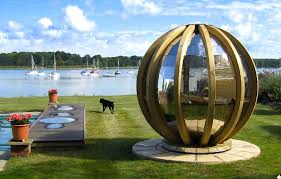 spherical prefab g pods are high tech loungers for modern nomads g