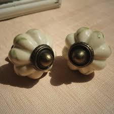 painted ceramic cabinet knobs 32mm grey pumpkin hand painted ceramic cabinet knobs antique