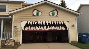 cleveland woman transforms her garage door into a monster with