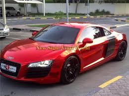 velvet wrapped cars high quality stretchable red chrome vinyl wrap car wrapping foil