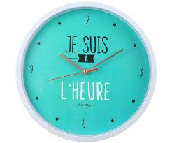 Horloge Murale Silencieuse by Horloge Silencieuse Tendance Collection Je Suis A L U0027heure Ou Pas