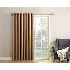 White Energy Efficient Curtains Amazon Com Sun Zero Barrow Energy Efficient Patio Door Curtain