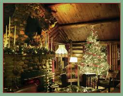 aesthetic log cabin ornaments using large resin deer
