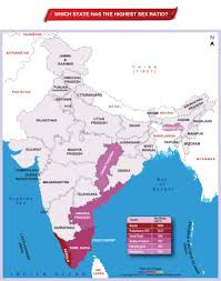 India State Map by Ratio In India Archives Answers