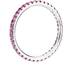 ruby eternity ring ruby eternity ring in 18k white gold tanary jewelry