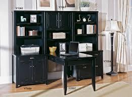 Black Home Office Furniture Loft Black Office Furniture Pedestal Executive Desk