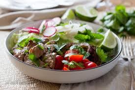 quick and healthy rump steak summer noodle salad